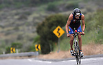 OCEANSIDE, CA- APRIL 2:  Trevor Wuertell of Canada rides his bike during the Rohto Ironman 70.3 California in Oceanside, California on April 2, 2011. (Photo by Donald Miralle for LAVA Magazine) *** Local Caption ***