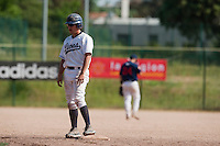 24 May 2009: Romain Scott-Martinez of Savigny stands at second base during the 2009 challenge de France, a tournament with the best French baseball teams - all eight elite league clubs - to determine a spot in the European Cup next year, at Montpellier, France. Rouen wins 7-5 over Savigny.