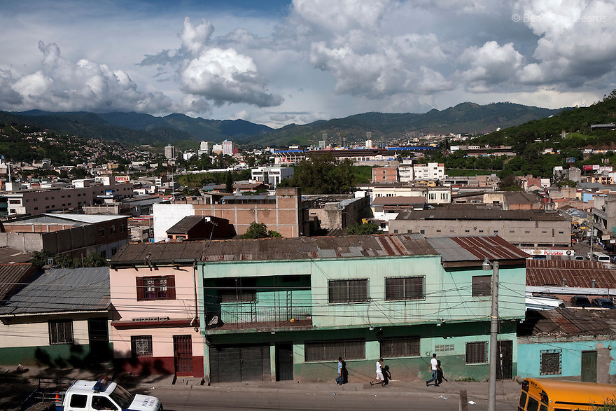 8 July 2009 - Tegucigalpa, Honduras  A view of Tegucigalpa, capital of Honduras. Photo credit: Benedicte Desrus