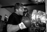 Vincenzo Nardiello, Campione del  Mondo Supermedi WBC durante gli allenamenti  alla palestra  A.S. Sordini Boxe Fiumicino