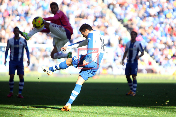 League BBVA 2013/2014 - Game: 17.<br /> RCD Espanyol vs R. Valladolid: 4-2.<br /> Fuentes.