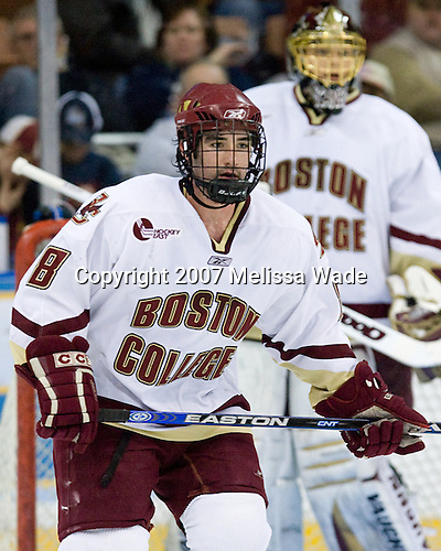 Brett Motherwell (Boston College - St. Charles, IL) - The Boston College Eagles defeated the St. Lawrence University Saints 4-1 on Saturday, March 24, 2007, in their semi-final matchup in the Northeast Regional at the Verizon Wireless Arena in Manchester, NH.