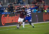 21 November 2010: Colorado Rapids defender Kosuke Kimura #27 and FC Dallas defender/midfielder Brek Shea #20 in action during the 2010 MLS CUP between the Colorado Rapids and FC Dallas at BMO Field in Toronto, Ontario Canada..The Colorado Rapids won 2-1 in extra time....
