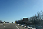 A sign is seen marking the Creation Museum exit near Petersburg, Kentucky on January 3, 2013.