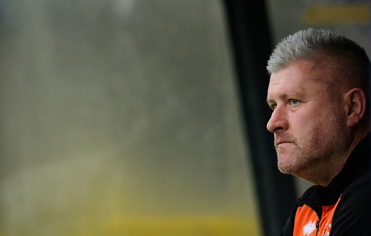 Blackpool's manager Terry McPhillips during the pre-match warm-up<br /> <br /> Photographer Chris Vaughan/CameraSport<br /> <br /> The EFL Sky Bet League One - Rochdale v Blackpool - Wednesday 26th December 2018 - Spotland Stadium - Rochdale<br /> <br /> World Copyright © 2018 CameraSport. All rights reserved. 43 Linden Ave. Countesthorpe. Leicester. England. LE8 5PG - Tel: +44 (0) 116 277 4147 - admin@camerasport.com - www.camerasport.com