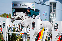 IRL-Susannah Berry rides Stonedge during the SAP Cup - CICO4*-S Nations Cup Eventing Showjumping. 2019 GER-CHIO Aachen Weltfest des Pferdesports. Friday 19 July. Copyright Photo: Libby Law Photography