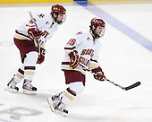 Edwin Shea (BC - 8), Joe Whitney (BC - 15) - The Boston College Eagles defeated the Yale University Bulldogs 9-7 in the Northeast Regional final on Sunday, March 28, 2010, at the DCU Center in Worcester, Massachusetts.
