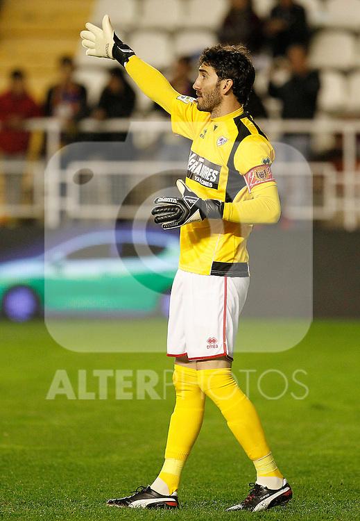 Rayo Vallecano's David Cobeno during La Liga match.April 29,2012. (ALTERPHOTOS/Acero)