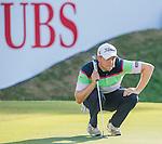 Nathan Kimsey of England ponders his next move during the 58th UBS Hong Kong Golf Open as part of the European Tour on 10 December 2016, at the Hong Kong Golf Club, Fanling, Hong Kong, China. Photo by Marcio Rodrigo Machado / Power Sport Images