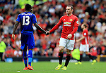 Wayne Rooney of Manchester United shakes hands with Daniel Amartey of Leicester City  during the Premier League match at Old Trafford Stadium, Manchester. Picture date: September 24th, 2016. Pic Sportimage