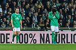 02.11.2019, wohninvest WESERSTADION, Bremen, GER, 1.FBL, Werder Bremen vs SC Freiburg<br /> <br /> DFL REGULATIONS PROHIBIT ANY USE OF PHOTOGRAPHS AS IMAGE SEQUENCES AND/OR QUASI-VIDEO.<br /> <br /> im Bild / picture shows<br /> Philipp Bargfrede (Werder Bremen #44), <br /> Theodor Gebre Selassie (Werder Bremen #23), niedergeschlagen / enttäuscht nach spätem Ausgleich in der Nachspielzeit, <br /> <br /> Foto © nordphoto / Ewert