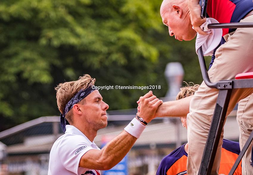 The Hague, Netherlands, 09 June, 2018, Tennis, Play-Offs Competition, Scott Griekspoor (NED)<br /> Photo: Henk Koster/tennisimages.com
