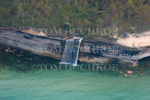 Spray Falls, Pictured Rocks National Lakeshore, Alger county, Upper Peninsula of Michigan.