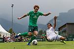 07.07.2019, Parkstadion, Zell am Ziller, AUT, TL Werder Bremen Zell am Ziller / Zillertal Tag 03 - FSP Blitzturnier<br /> <br /> im Bild<br /> Joshua Sargent (Werder Bremen #19) im Duell / im Zweikampf mit Dirk Carlson (Karlsruher SC #23), <br /> <br /> im dritten Spiel des Blitzturniers SV Werder Bremen vs Karlsruher SC, <br /> <br /> Foto © nordphoto / Ewert