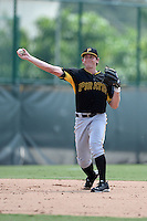 Pittsburgh Pirates third baseman Daniel Gamache (5) during an Instructional League game against the New York Yankees on September 18, 2014 at the Pirate City in Bradenton, Florida.  (Mike Janes/Four Seam Images)