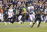 Philadelphia, PA - December 8, 2018: Army Black Knights linebacker James Nachtigal (19) dives to break up a pass during the 119th game between Army vs Navy at Lincoln Financial Field in Philadelphia, PA. (Photo by Elliott Brown/Media Images International)