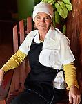 A woman runs a country restaurant for locals near Vinales, Cuba.