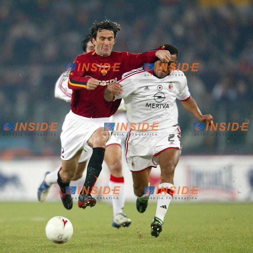 Roma 6/1/2004 Roma - Milan 1-2<br /> Christian Panucci (Roma) and Marcos Cafu (Milan)<br /> Photo Andrea Staccioli / Insidefoto