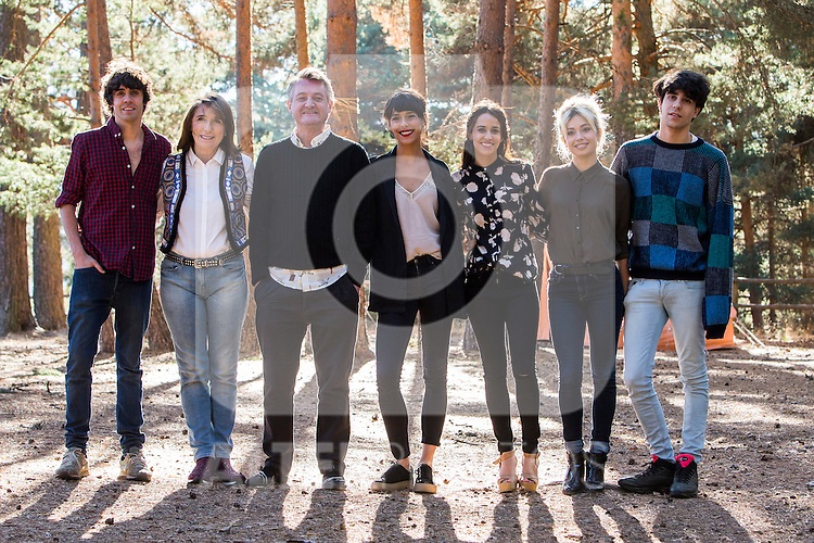 "Javier Ambrossi Gracia Olayo, Richard Collins Moore, Belen Cuesta, Macarena Garcia, Anna Castillo and Javier Calvo during the visit of the media to the filming of the movie ""La llamada"" directed by Javier Calvo and Javier Ambrossi. September 29, 2016. (ALTERPHOTOS/Rodrigo Jimenez)"