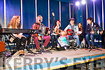 The O'Shea Family and friends playing on the Gig Rig in Cahersiveen on Saturday night pictured l-r; Doireann, Pádraig, Michelle, Ellie, Ogie, Niamh O'Brien & Thomas O'Shea.