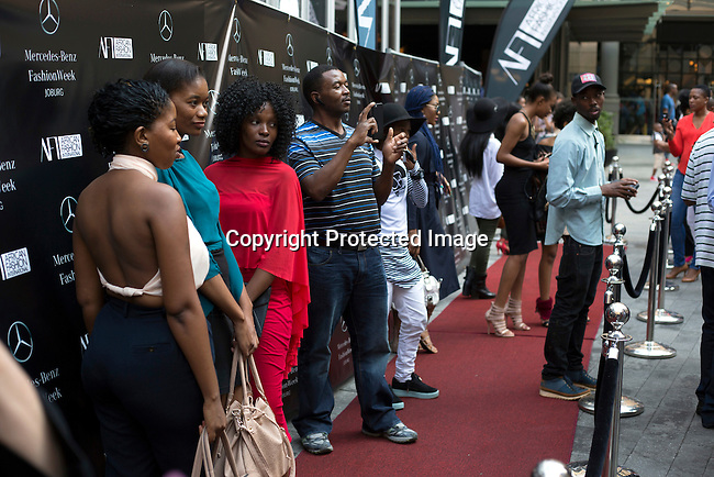 JOHANNESBURG, SOUTH AFRICA - MARCH 12: Street fashion at Johannesburg Fashion Week week on March 12, 2016, at Nelson Mandela Square Johannesburg, South Africa. (Photo by: Per-Anders Pettersson)