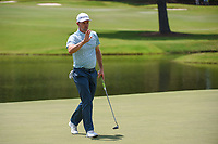 Justin Rose (GBR) sinks his birdie putt on 9 during round 4 of the WGC FedEx St. Jude Invitational, TPC Southwind, Memphis, Tennessee, USA. 7/28/2019.<br /> Picture Ken Murray / Golffile.ie<br /> <br /> All photo usage must carry mandatory copyright credit (© Golffile | Ken Murray)