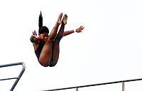 BARRANQUILLA - COLOMBIA, 22-07-2018: Competidora Miryeliz Fernandez de Cuba , modalidad 10m plataforma.Juegos Centroamericanos y del Caribe Barranquilla 2018. /Competitor  Miryeliz Fernandez of Cuba, 10m platform platform of the Central American and Caribbean Sports Games Barranquilla 2018. Photo: VizzorImage /  Contribuidor