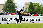 David Dixon (ENG) tees off on the 1st tee to start his round on Day 2 of the BMW PGA Championship Championship at, Wentworth Club, Surrey, England, 27th May 2011. (Photo Eoin Clarke/Golffile 2011)