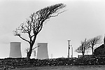 Windscale and Calder Nuclear processing plant 1980s Cumbria UK. British Nuclear Fuels. Formally known as Sellafield 1983.<br />