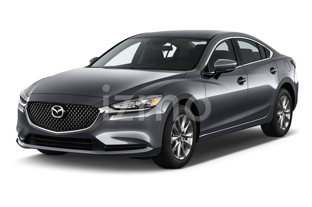 2018 Mazda Mazda6 Sport 4 Door Sedan angular front stock photos of front three quarter view