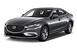 2018 Mazda Mazda6 Sport 4 Door Sedan angular front stock photos of front three quarter view