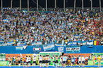 Argentina team salutes their fans before the Men's hockey medal ceremony at the Rio 2016 Olympics at the Olympic Hockey Centre in Rio de Janeiro, Brazil.