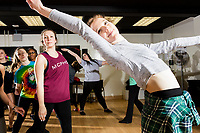 Students dance during a Jazz Performance class at the Holmes Athletic Center at Simmons College, one of the Colleges of the Fenway, in Boston, Massachusetts, USA, on Mon., March 13, 2017. The students were preparing for their Spring Showcase performance in April.