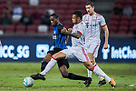 Bayern Munich Midfielder Corentin Tolisso (C) fights for the ball with FC Internazionale Midfielder Geoffrey Kondogbia (L) during the International Champions Cup match between FC Bayern and FC Internazionale at National Stadium on July 27, 2017 in Singapore. Photo by Marcio Rodrigo Machado / Power Sport Images