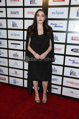 BEVERLY HILLS, CA - NOVEMBER 09: Kat Dennings attends the 30th Israel Film Festival Anniversary Gala Awards Dinner on November 8, 2016 in Beverly Hills, California.  (Credit: Parisa Afsahi/MediaPunch).