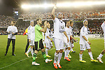 Real Madrid´s  celebration after winning the Spanish Copa del Rey `King´s Cup´ final soccer match between Real Madrid and F.C. Barcelona at Mestalla stadium, in Valencia, Spain. April 16, 2014. (ALTERPHOTOS/Victor Blanco)