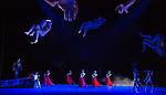 Svetlana Zakharova. Amore triple bill. Francesca Da Rimini. Coliseum Theatre, London.<br /> Francesca &ndash; Svetlana Zakharova<br /> Paolo &ndash; Denis Rodkin<br /> Giovanni &ndash; Mikhail Lobukhin<br /> Guardians of the Inferno &ndash; Alexei Gainutdinov,<br /> Anton Gainutdinov, Vladislav Kozlov<br /> Court Ladies &ndash; Olga Barichka, Ekaterina Besedina, Olga Marchenkova,<br /> Ekaterina Smurova, Ana Turazashvili
