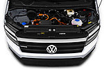 Car Stock 2020 Volkswagen Crafter e-Crafter 4 Door Cargo Van Engine  high angle detail view