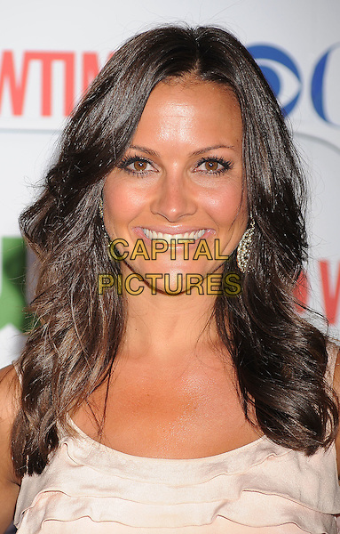Chistina McLarty.arriving at the TCA Party for CBS, The CW and Showtime held at The Pagoda in Beverly Hills, California, USA,.August 3rd, 2011. .portrait headshot smiling  pink .CAP/ROT/TM.©TM/Roth Stock/Capital Pictures