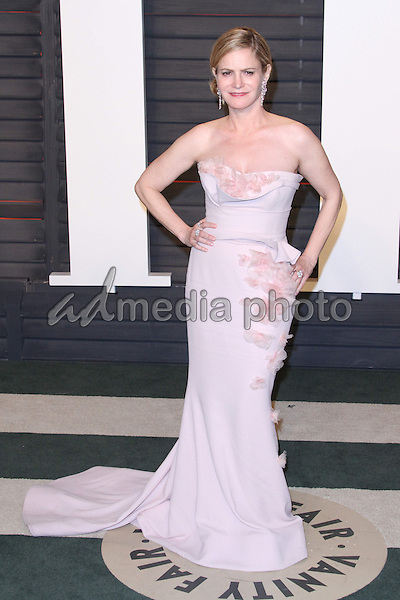 28 February 2016 - Beverly Hills, California - Jennifer Jason Leigh. 2016 Vanity Fair Oscar Party hosted by Graydon Carter following the 88th Academy Awards held at the Wallis Annenberg Center for the Performing Arts. Photo Credit: AdMedia
