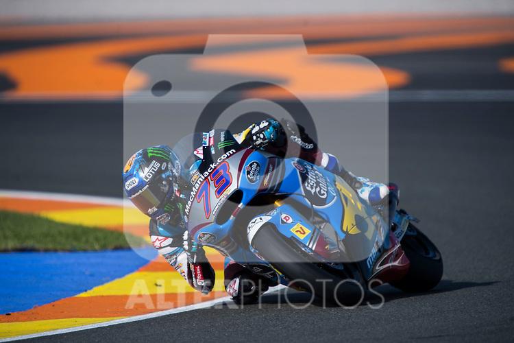 VALENCIA, SPAIN - NOVEMBER 11: Alex Marquez during Valencia MotoGP 2016 at Ricardo Tormo Circuit on November 11, 2016 in Valencia, Spain