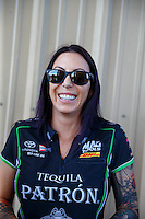 Jul 24, 2016; Morrison, CO, USA; NHRA funny car driver Alexis DeJoria during the Mile High Nationals at Bandimere Speedway. Mandatory Credit: Mark J. Rebilas-USA TODAY Sports