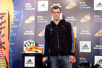 Real Madrid´s Gareth Bale attends his new Adidas football boots presentation at Santiago Bernabeu stadium stadium in Madrid, Spain. January 06, 2014. (ALTERPHOTOS/Victor Blanco)