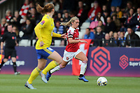 Jordan Nobbs of Arsenal Women and Meaghan Sargeant of Birmingham City Women during Arsenal Women vs Birmingham City Ladies, FA Women's Super League Football at Meadow Park on 4th November 2018