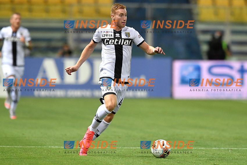 Dejan Kulusevski of Parma in action during the Serie A football match between Parma and FC Internazionale at stadio Ennio Tardini in Parma ( Italy ), June 28th, 2020. Play resumes behind closed doors following the outbreak of the coronavirus disease. <br /> Photo Andrea Staccioli / Insidefoto