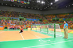 Masae Komiya (JPN), <br /> SEPTEMBER 14, 2016 - Goalball : <br /> Quarter Final match between China 5-3 Japan <br /> at Future Arena<br /> during the Rio 2016 Paralympic Games in Rio de Janeiro, Brazil.<br /> (Photo by AFLO SPORT)