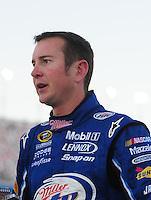 Feb 29, 2008; Las Vegas, NV, USA; NASCAR Sprint Cup Series driver Kurt Busch during qualifying for the UAW Dodge 400 at Las Vegas Motor Speedway. Mandatory Credit: Mark J. Rebilas-