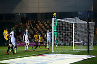 Barry Roche of Morecambe palms the ball over the cross bar during the Sky Bet League Two match between Newport County and Morcambe at Rodney Parade, Newport, Wales, UK. 23 January 2018
