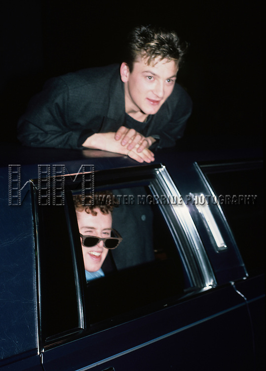 Holly Johnson and Mark O'Toole of Frankie Goes to Hollywood pictured in New York City in November, 1984.