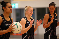 29.10.2015 Silver Ferns Shannon Francois in action during the Silver Ferns training ahead of the final test match against the Australian Diamonds in Perth Australia. Mandatory Photo Credit ©Michael Bradley.